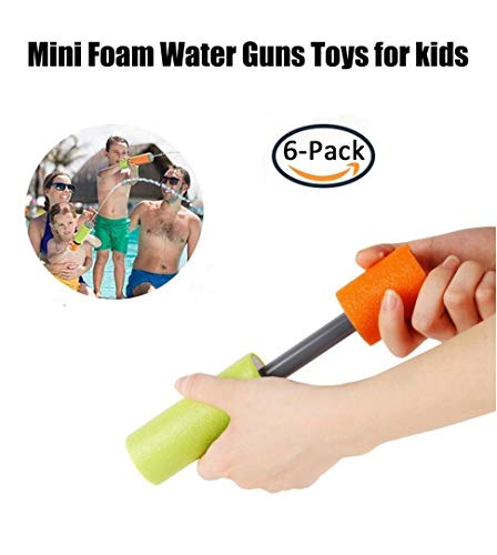 Mini Super Soaker Foam Pocket Water Guns (6 Pack) Toys For Kids Summer Swimming Pool Game Beach Sand Water Blaster Toy NEW