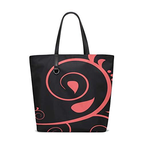 Jnseff Women Scroll Fleur De Lis Tattoo Design Decoration 309100 Handle Satchel Handbags Shoulder Bag Tote Purse Messenger Bags