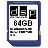 DSP Memory Z-4051557430563 64GB Speicherkarte für Canon EOS 750D SLR