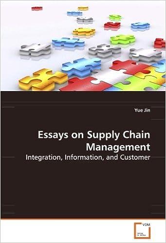 Supply chain management essay