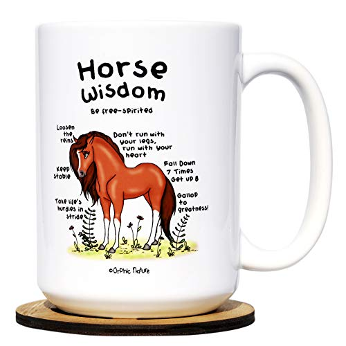 Workers Horse - Funny Mug and Coaster Set - Horse Wisdom - Large 15 Ounce Inspirational Horse Mug For Birthday And Any Special Occasions. Enjoy The Premium Design Mug With Friends, Family And Coworkers.
