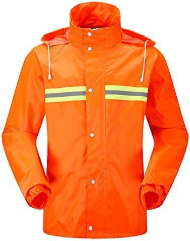 Abito/Giacca Impermeabile Pantaloni Impermeabili e Pantaloni Impermeabili con Cappuccio Hi-Vis Safety Workwear Adulto (Size : XXXXL)