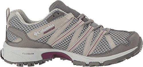 Columbia Mountain Masochist Iii Outdry, Zapatillas de Running para Asfalto para Mujer, Monument/Dark Raspberry Gris (Monument/ Dark Raspberry)