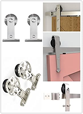 Homacer - Juego de herramientas para puerta corredera de acero inoxidable con rieles de 1,5 m,