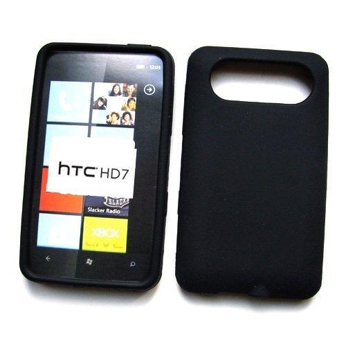 amazon com htc hd7 t mobile silicone skin case black cell rh amazon com HTC HD7 Battery Life HTC One X