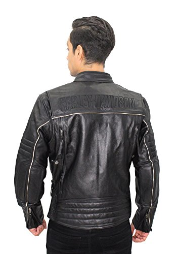 Harley-Davidson Mens Beginnings Reflective Leather 98067-14VM (Large Tall)