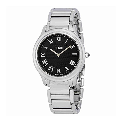 Fendi Men's F251011000 Classico Analog Display Quartz Silver - Watches Fendi Men