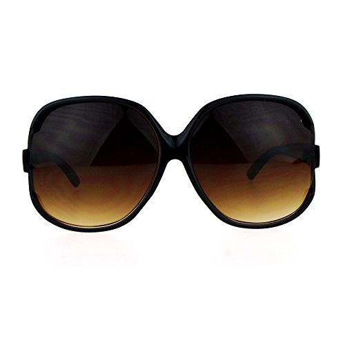 Womens Extra Oversized Round Designer Fashion Exposed Lens Butterfly Sunglasses - Large Sunglasses Extra