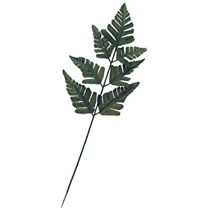 24 Artificial Silk Green Fern Leaf Picks for Floral Arranging, Crafting and Creating 30