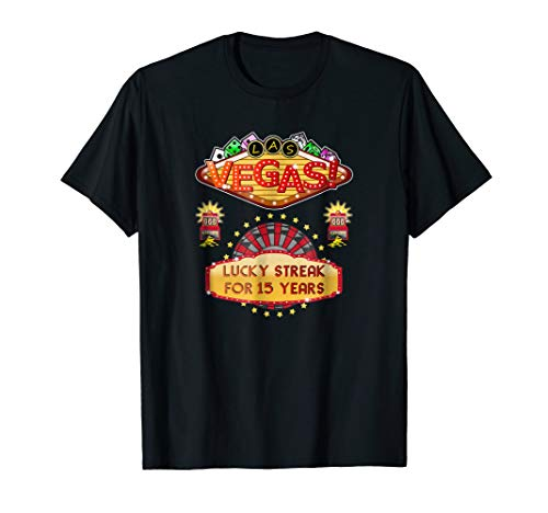 Las Vegas 15th Wedding Anniversary Gift Tshirt