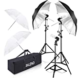 Photography Umbrella Continuous Lighting Kit 600W Photography Photo Video Portrait Studio Day Light Equipment by RALENO