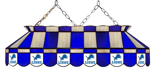 - Imperial Officially Licensed NFL Merchandise: Tiffany-Style Stained Glass Billiard/Pool Table Light, Detroit Lions