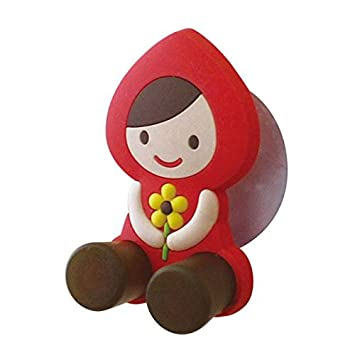 Linda mini percha con ventosa soporte cepillo dientes Caperucita Roja de Decole: Amazon.es: Juguetes y juegos