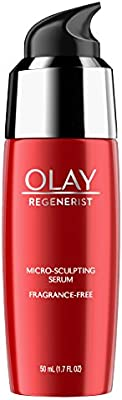 Face Serum with Collagen Peptide by Olay Regenerist, Fragrance Free Micro-Sculpting, Advanced Anti-Aging, 1.7 oz