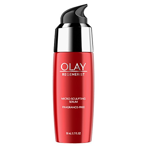 Face Serum with Collagen Peptide by Olay Regenerist, Fragrance Free Micro-Sculpting,Advanced Anti-Aging,1.7 oz