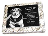 Handcrafted custom pet memorials by Eric @ StoneArtUSA featuring solid granite and permanent laser etching.