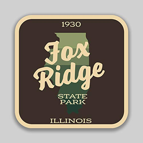 (JMM Industries Fox Ridge State Park IllinoisVinyl Decal Sticker Car Window Bumper 2-Pack 4-Inches by 4-Inches Premium Quality UV Protective Laminate SPS00989)
