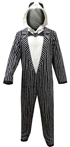 Disney Themed Costumes (Disney Men's Nightmare Before Christmas Uniform Union Suit, Nightmare Black, L)