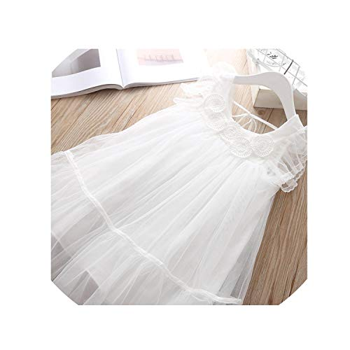 (Teen Girls Party Dress Christmas Princess Toddler Thanksgiving Costume Holiday Dresses for Party and Wedding Clothes 5T,White,4T)