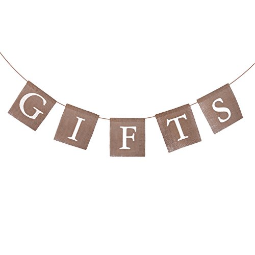 Bridal Gift Decoration - eBoot Gifts Banner Gifts Bunting Burlap Gifts Sign for Wedding Party Baby Shower Bridal Shower Engagement Bachelorette Retirement Birthday Party Supplies