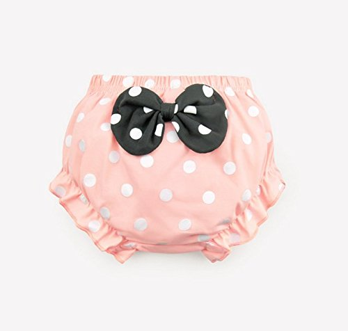 JIEYA Baby Girls Cotton Underwear Dots Printed with Bow-Knot Briefs Panties 0-3Y Pack of 4