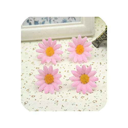 100pcs/lot 3cm Sunflower Gerbera Artificial Flowers Head Wedding Decoration,Pink -