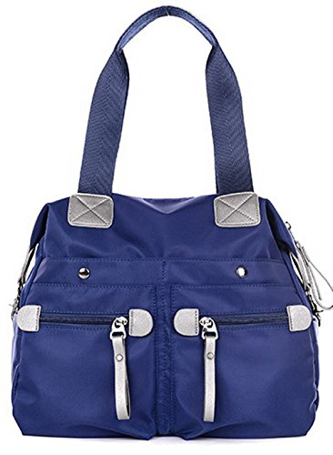 VogueZone009 Mujeres Bolsos cruzados Viajes cortos Trabajo Bolsas de hombro, CCAYBO181453, Morado Azul