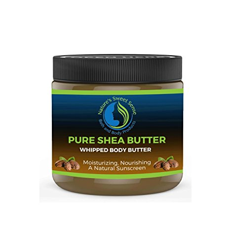 Organic Whipped Shea Butter (Organic African Shea Butter for Skin & Hair by Nature's Sweet Sense|100% Pure Whipped Moisturizer| All-Natural and Anti-Aging, Great for DIY lotions and lip balms)