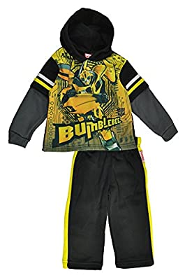 Transformers Little Boys Bumble Bee Pull Over Hoodie 2pc Sweat Suit
