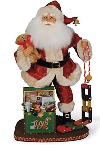Karen Didion Signature Attic Treasures Santa Claus Christmas Figurine 17 Inch