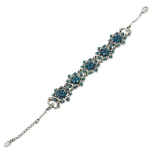 Glamorousky Antique Bracelet with Banquet Elegance Blue Austrian Element Crystals 1459
