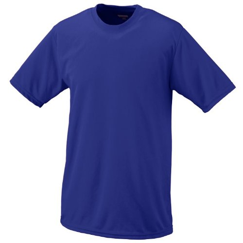 Purple, Adult XL Performance Wicking Moisture Management Short Sleeve Cool & Comfortable Crewneck Shirt ()