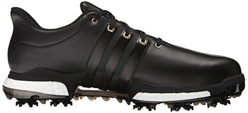 Adidas Golf Mens Tour360 Boost Scarpe Chiodate Nero / Nero / Oro Metallizzato