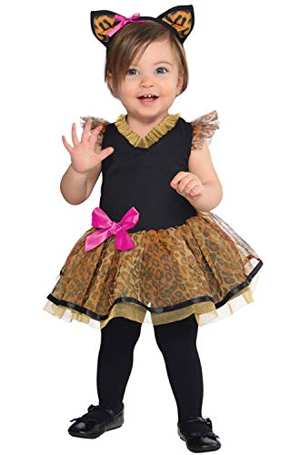 Suit Yourself Cutie Cat Costume for Babies, Size 12 Months to 24 Months, Includes a Tutu Dress and a Cat Ear Headband -