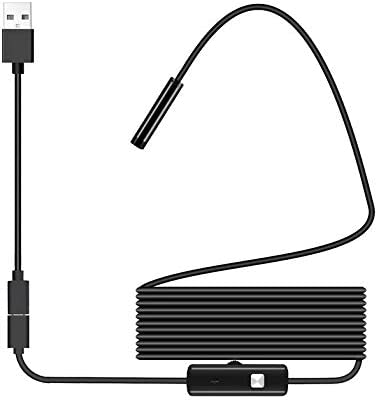 Furobayuusaku for Android Endoscope Waterproof Borescope Inspection Camera 8 LED a Long Effective Focal Length