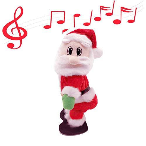 Yeazyai Shaking Hips Santa Claus Electronic Toy Spagnolo di Musica Elettronica Bambola per I Bambini Regali di Natale Per Bambini