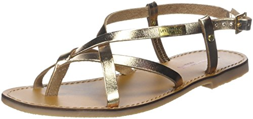Les Tropéziennes Par M. Les Tropéziennes Par M. Belarbi Women's Chouette Sling Back Sandals Gold (or 642) Fronde Des Femmes Belarbi Chouette L'or Retour Sandales (ou 642)