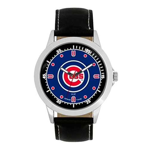 (MLB Chicago Cubs Mens MLB-Player Series WatchWatch, Black, 44.00mm)