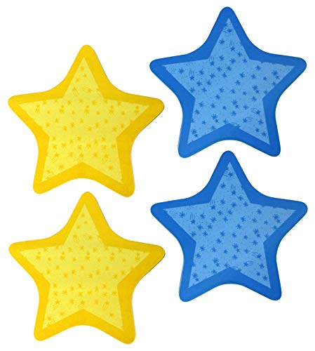 (Post-it Notes Star-Shaped 50-Sheet Sticky Memo Pads, 4.7 x 4.7 Inch, 4-Pack)