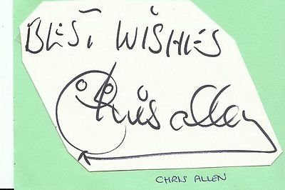 (Chris Allen Signed 3x5 Album Page Oxford United Nottingham Forest)