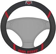 FANMATS NCAA Ohio State University Buckeyes Polyester Steering Wheel Cover