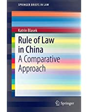 Rule of Law in China: A Comparative Approach