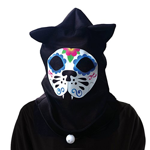 Animal Cat Mask  See-Thru  Skull hood Day of the Dead Halloween]()