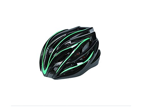 Wesource Men Women One-Piece Helmet Adjustable Bike Helmet Porous Mountain Bicycle Helmet(Green+Black) by Wesource