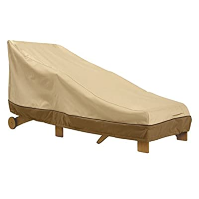 Classic Accessories Veranda Double Chaise Lounge Chair Cover - Durable and Water Resistant Patio Furniture Cover