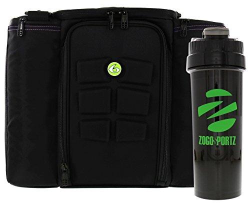 6 Pack Fitness Bag Innovator 500 Black/Neon Green  w/Bonus
