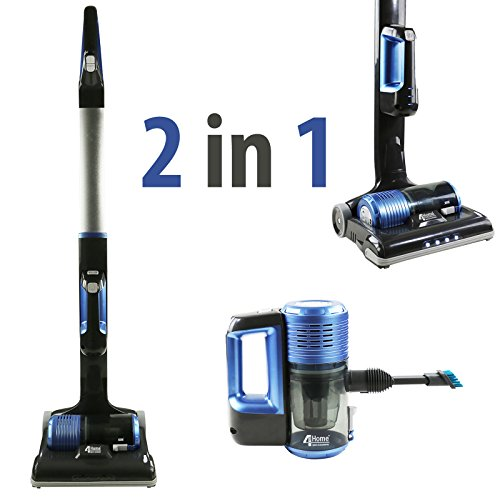 4YourHome 2-in-1 Stick & Handheld Cordless Vacuum Cleaner Sweeper Powerful Li-ion 22.2V, Lightweight 2.8KG , Hepa Filtration