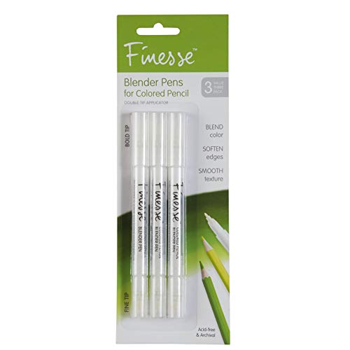 Speedball Art Products 87773 Finesse Artist Colored Pencil Blender, 3-Pack, Clear