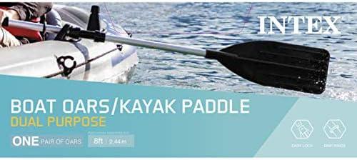 1 Pair Adjustable Length Aluminium Boat Oars Water Paddles Canoe Kayak New