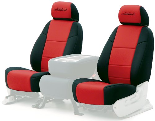 Coverking Custom-Fit Front Bench Seat Cover - Neosupreme Fabric, Red